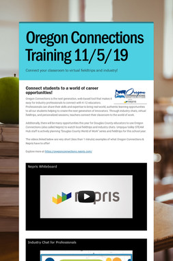 Oregon Connections Training 11/5/19