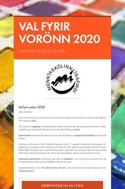 VAL FYRIR VORÖNN 2020