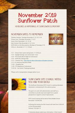 November 2019 Sunflower Patch