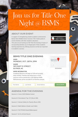 Join us for Title One Night @ BSMS