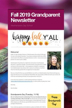 Fall 2019 Grandparent Newsletter
