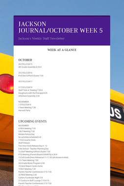 JACKSON JOURNAL/OCTOBER WEEK 5