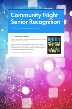 Community Night Senior Recognition