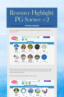 Resource Highlight: PG Science #2