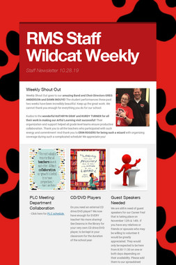RMS Staff Wildcat Weekly