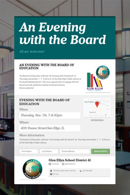 An Evening with the Board