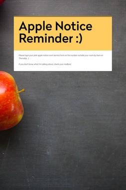 Apple Notice Reminder :)