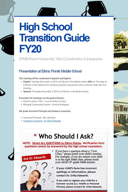 High School Transition Guide FY20