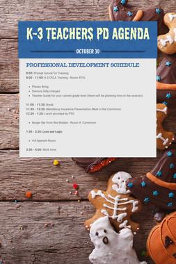 K-3 Teachers PD Agenda