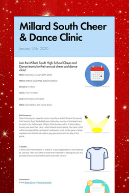 Millard South Cheer & Dance Clinic