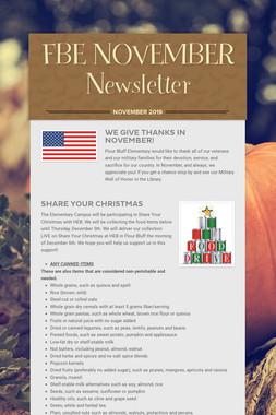 FBE NOVEMBER Newsletter