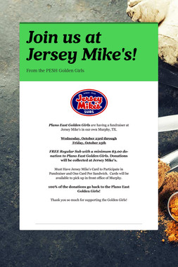 Join us at Jersey Mike's!