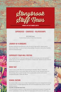 Stonybrook Staff News