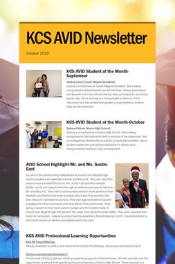 KCS AVID Newsletter