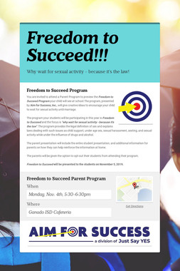 Freedom to Succeed!!!