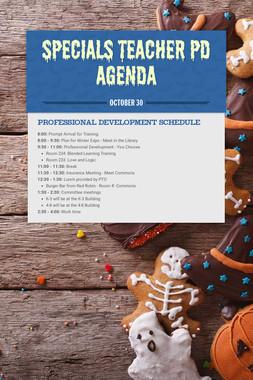 Specials Teacher PD Agenda