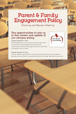 Parent & Family Engagement Policy