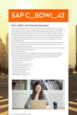 SAP C_BOWI_42