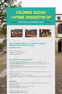Colònies Suzuki +Stage Orquestra GP