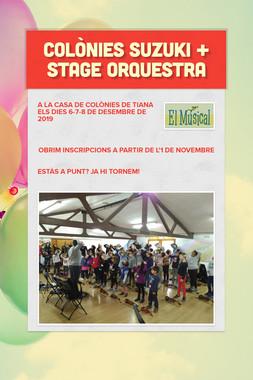 Colònies Suzuki + Stage Orquestra