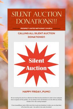 SILENT AUCTION DONATIONS!!!
