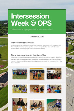 Intersession Week @ OPS