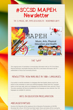 #SCCSD M.A.PE.H.  Newsletter