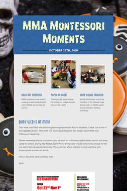 MMA Montessori Moments