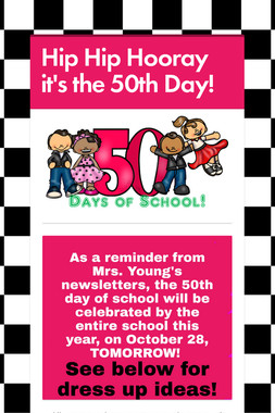 Hip Hip Hooray it's the 50th Day!