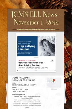 JCMS ELL News - November 1, 2019