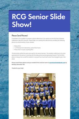 RCG Senior Slide Show!