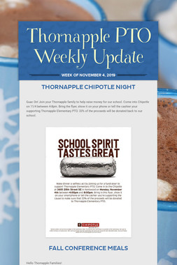 Thornapple PTO Weekly Update