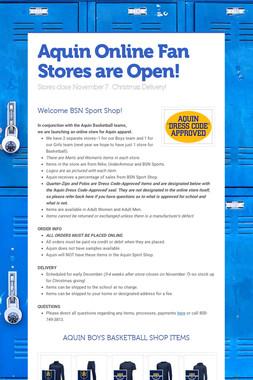 Aquin Online Fan Stores are Open!