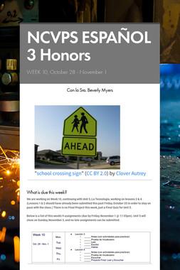 NCVPS ESPAÑOL 3 Honors