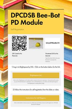 DPCDSB Bee-Bot PD Module