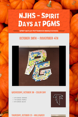 NJHS - Spirit Days at PGMS