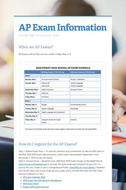 AP Exam Information