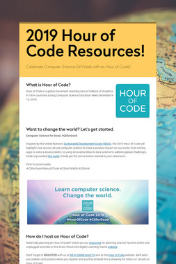 2019 Hour of Code Resources!