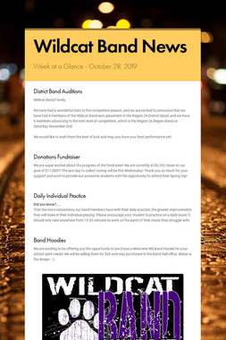 Wildcat Band News