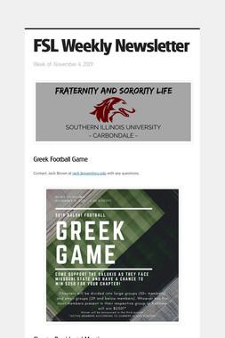 FSL Weekly Newsletter