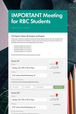 IMPORTANT Meeting for RBC Students
