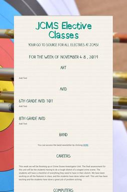 JCMS Elective Classes