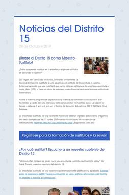Noticias del Distrito 15