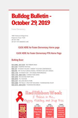 Bulldog Bulletin - October 29, 2019