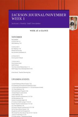 JACKSON JOURNAL/NOVEMBER WEEK 1