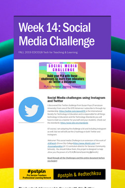 Week 13-14: Social Media Challenge