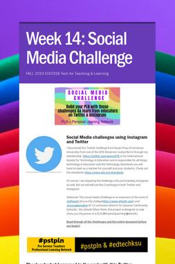 Week 14: Social Media Challenge