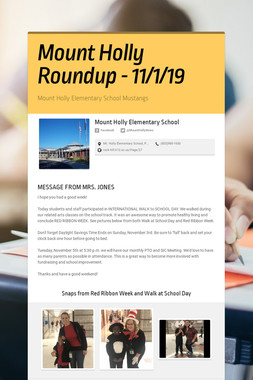 Mount Holly Roundup - 11/1/19