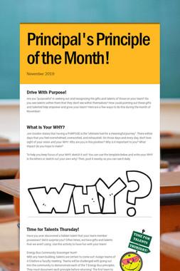 Principal's Principle of the Month!