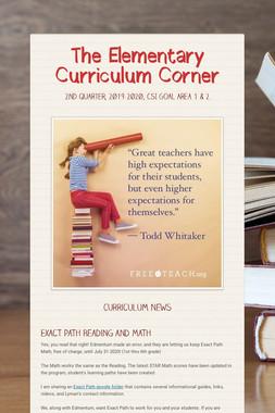 The Elementary Curriculum Corner